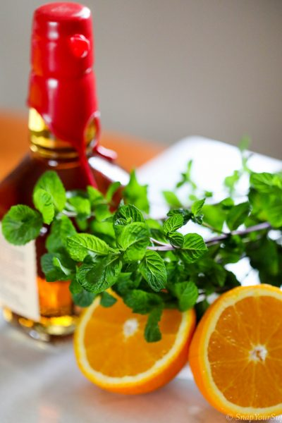 bourbon, mint, orange