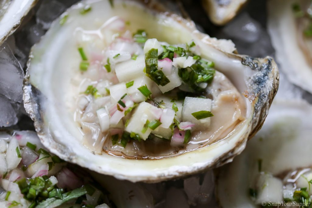 oysters with pear