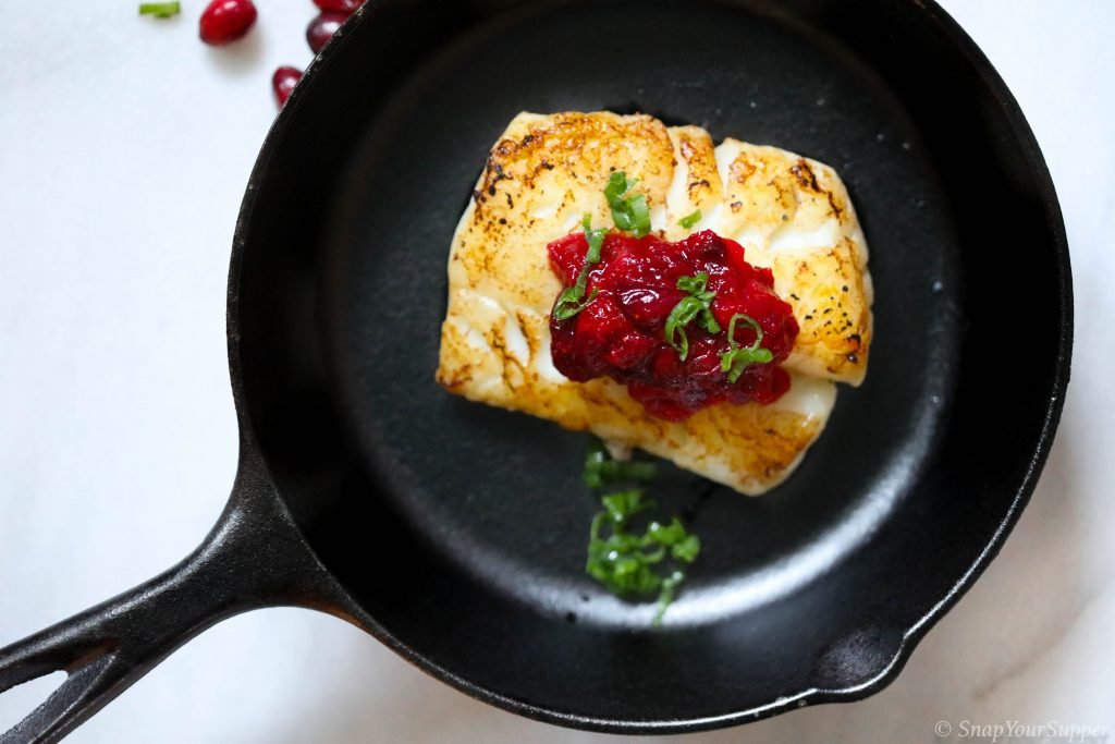 cod with cranberry relish
