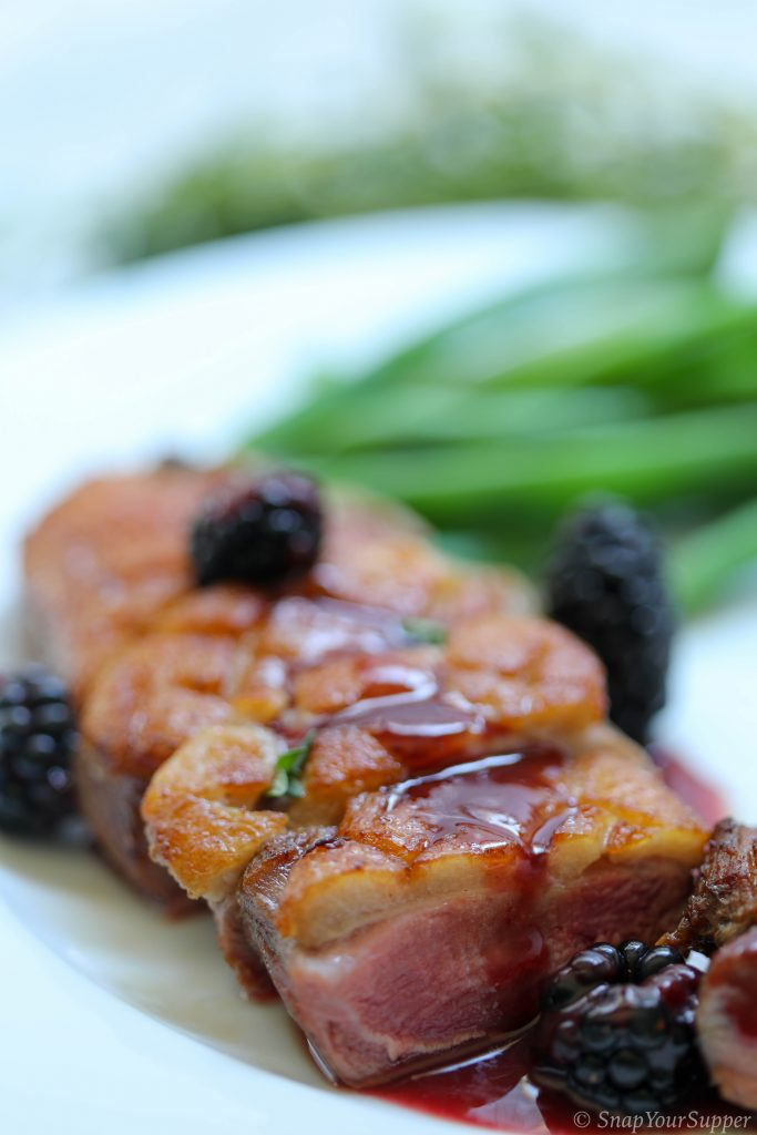 duck with blackberry ginger sauce