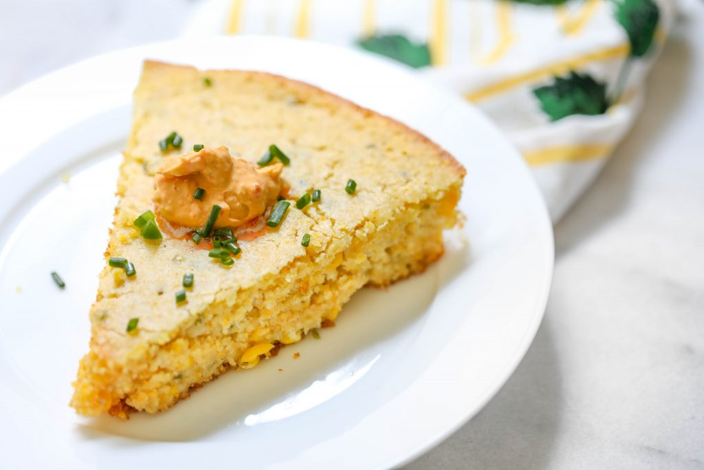 Gluten Free Cornbread with Sun Dried Tomato Butter